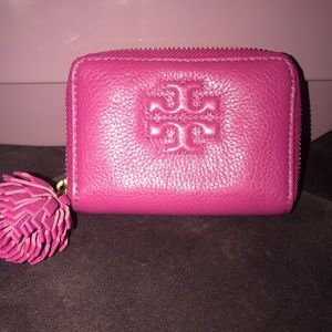 NEW Pink Tory Burch Keychain Wallet/ Cardholder